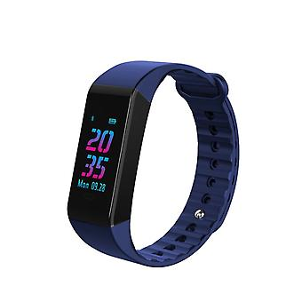 W6S activiteit armband met OLED kleurenscherm-blauw