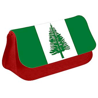 Norfolk Island Flag Printed Design Pencil Case for Stationary/Cosmetic - 0226 (Red) by i-Tronixs