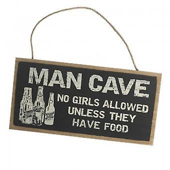 Himmelen skickar Man Cave hängande plack
