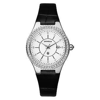 ORPHELIA Ladies Analogue Watch Temptation Black Leather 122-1731-84