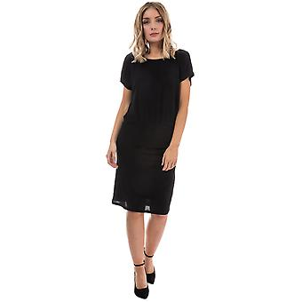 Womens Only Lilo Lace Detail Jersey Dress In Black