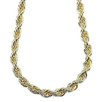18K Gold Plated Rope Chain Necklace 10mm x 30 Inches