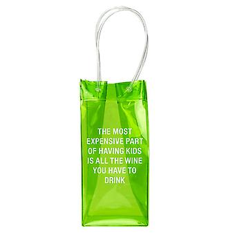 Say What PVC Wine Tote