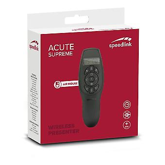 Speedlink Acute Supreme Prezenter i Air Mouse Black (SL-600402-BK)