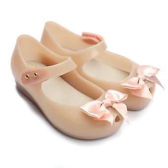 Melissa Shoes Mini Ultragirl Silk Bow Shoe,Nude