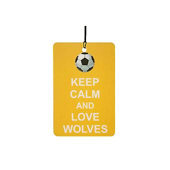 Keep Calm And Love Wolves Car Air Freshener