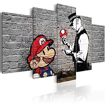 Panza de imprimare-Super Mario ciuperci Cop (Banksy)
