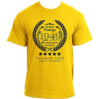 Premium Vintage 1949 Aged to Perfection Limited Edition Birthday Present Mens t-shirt