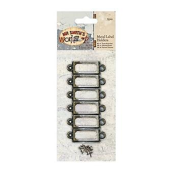 Papermania Metal Label Holders (6pcs) - Mr Smith's Workshop