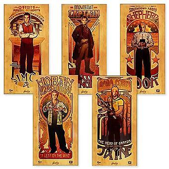 Poster Firefly Les Hommes Saffron Set of 5 24x12