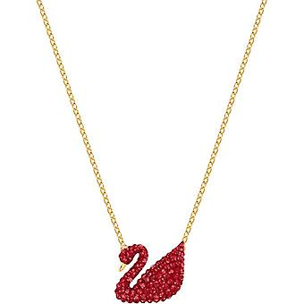 Swarovski necklace and pendant 5465400 - Iconic swan/ red/m tal dor Women