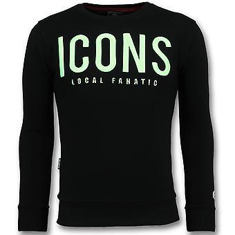 ICONS - Leuke Sweater Mannen - 6349Z - Zwart