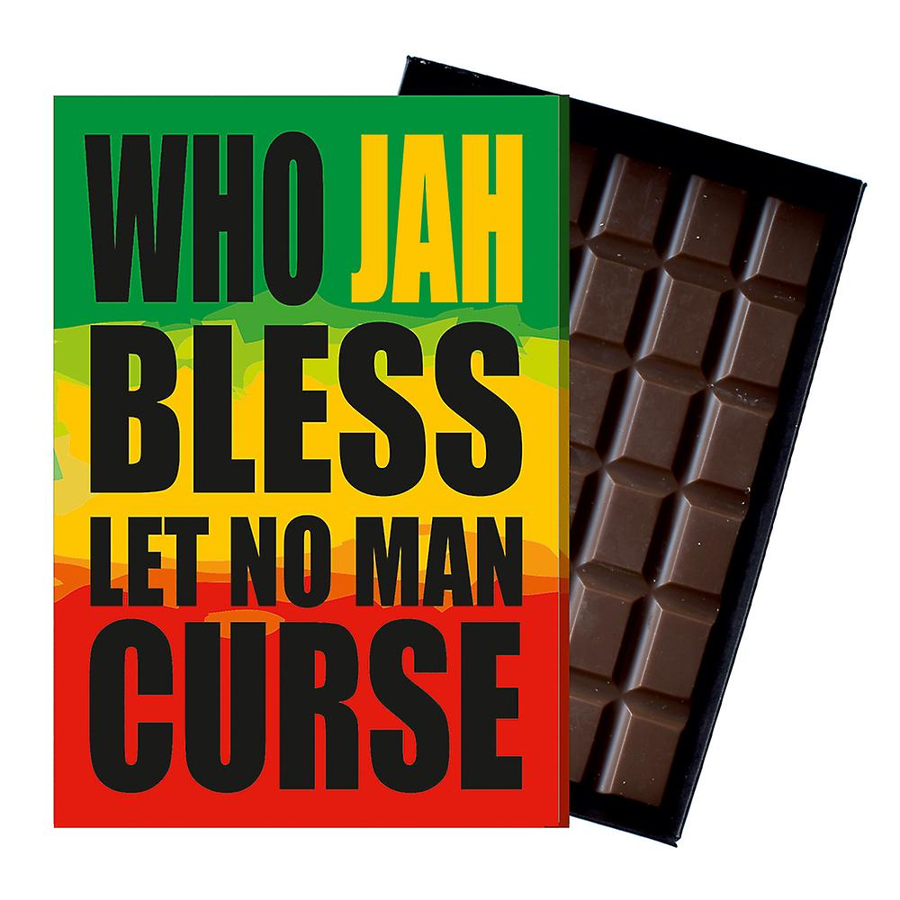 Jah Blessing Gift Rasta Rastafarian Rastafari Chocolate Greeting Card Present IYF200