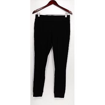 Anybody Leggings Loungewear Cozy Waffle Knit Pull-on Black A297423
