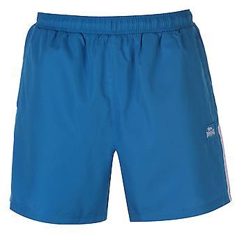Lonsdale Mens 2 Stripe vävda Shorts byxor byxor bottnar lätt Zip Mesh