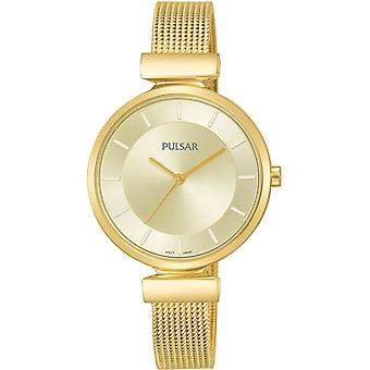 Pulsar ladies watch for Women Analog Quartz with stainless steel bracelet plated in gold PH8412X1