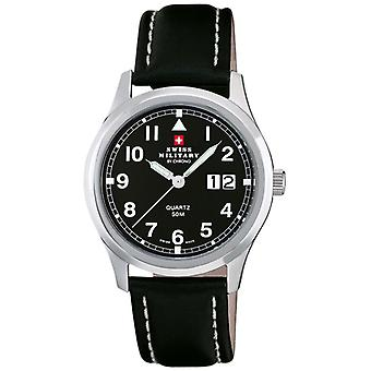 Swiss Military Quartz Analog Man Watch with Cowskin Bracelet SM34004.09