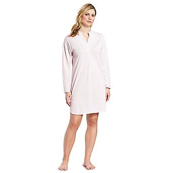 Feraud 3191012-11561 Femmes-apos;s High Class Sunrise Pink Cotton Sleep Shirt Nighty Nightshirt