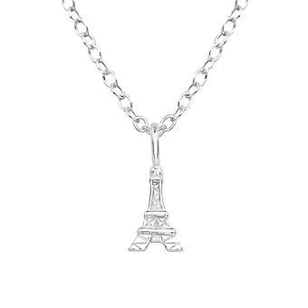 Eiffel Tower - 925 Sterling Silver Plain Necklaces - W39243x