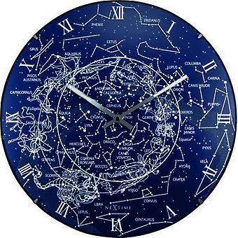 Nextime Leuchtuhr der Milchstraße blau 35x5 cm (Dekoration , Uhren)