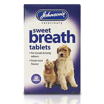 Johnsons Veterinary Dog/Cat Sweet Breath Tablets