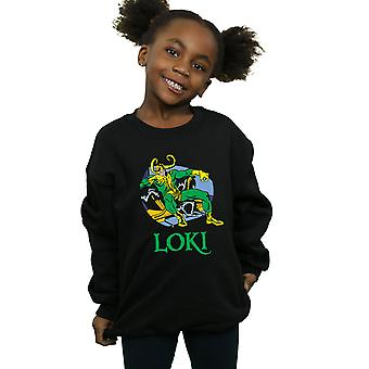 Marvel Girls Loki Throne Sweatshirt