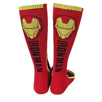 Iron Man Two-Tone Athletic Crew Socks