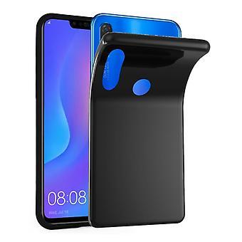 Cadorabo geval voor Huawei P SMART PLUS gevaldekking-mobiele telefoon geval gemaakt van flexibele TPU silicone-silicone geval beschermende case ultra slanke zachte terug Cover Case bumper