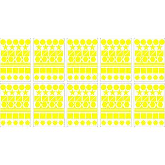Lot Stickers 400 Multi Forms Yellow 2Cm Scrapbooking Card