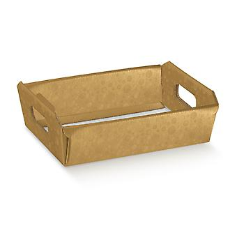 22cm Gold Bubble Cardboard Gift Hamper Tray   Gift Wrap   Christmas Hampers