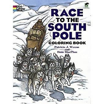 Course au pôle Sud, cahier de coloriage