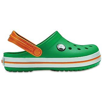 Crocs Kids Crocband Clog (SS) Grass Green/White/Blazing Orange