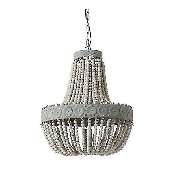 光・ リビング吊りペンダント ランプ ビーズ D52x61.5cm ルナの古い白