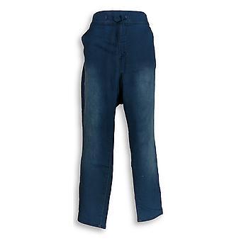 Martha Stewart Women's Petite Jeans Knit Denim Pull-On Blue A301081