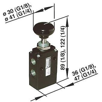 Norgren mekaniskt manövrerad pneumatisk ventil 03060402 Kapslingsmaterial aluminium 1 st (s)