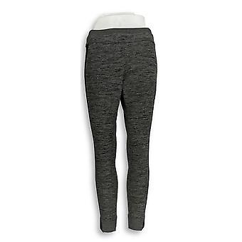 H di Halston Petite Leggings Space Dye Knit Gray a288333