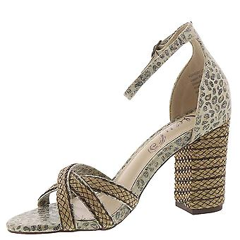 Very G Womens Slither Open Toe Ankle Strap Classic Pumps