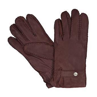 LLOYD mäns handskar handskar getskinn, Vintage, handsydd brun 8368