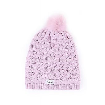 UGG Womens Cable Hat With Pom