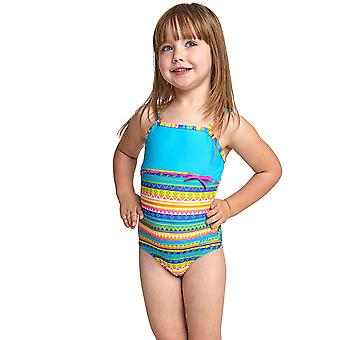 Zoggs Girl's Classicback One Piece Swimsuit in Multicolour Elastomax