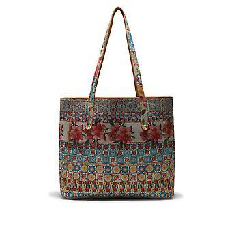 Desigual Woman's Multicoloured Swirl Floral Little Rioja Messenger Bag