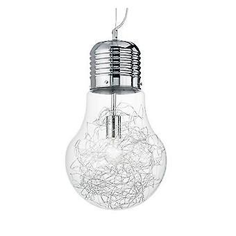 Light Bulb Shape Large Ceiling Pendant 1 Light Chrome