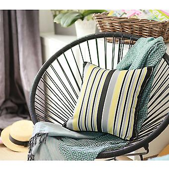 "17""x 17"" Jacquard Stripe Style Decorative Throw Pillow Cover"