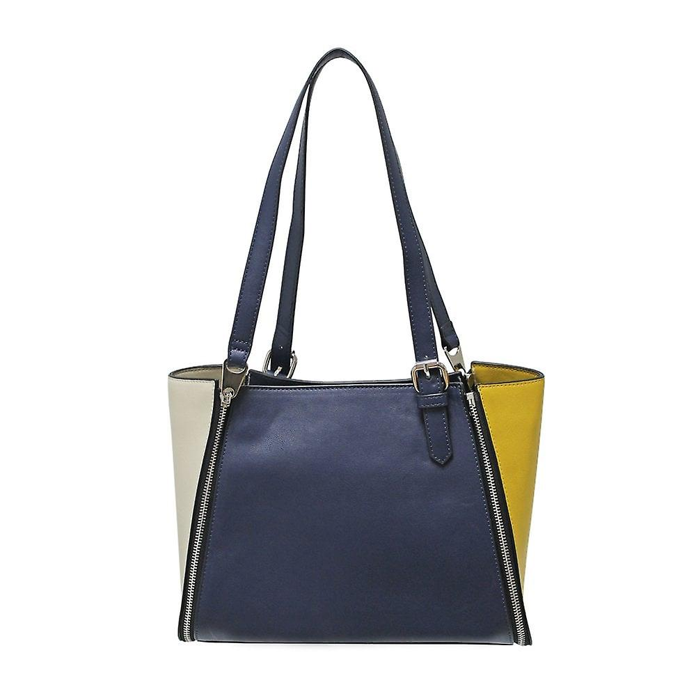 Envy Bags Envy 172 Zip Top Shoulder Bag With Interchangeable Panels Navy