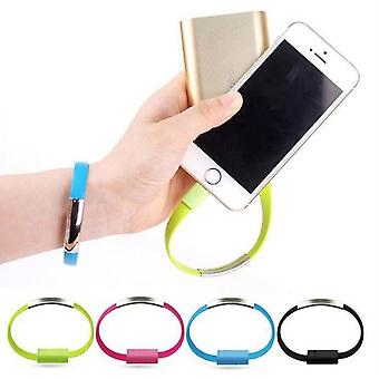 Bracelet with built-in Micro-USB cable