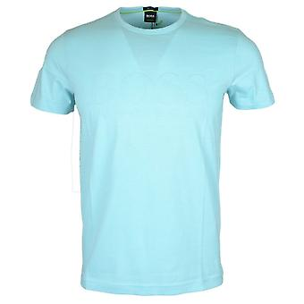 Hugo Boss Tee 1 coton rond Turquoise cou T-shirt