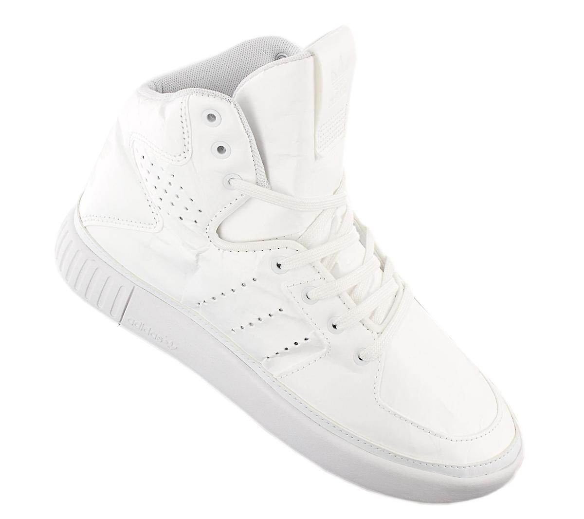 adidas Originals Tubular Invader 2.0 Decon - Damen Hi Top Schuhe Weiß BB2073 Sneakers Sportschuhe 5VWpb