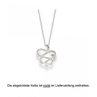 bastian inverun - 925/- matted silver pendant, diamond 0.02 ct - 23230