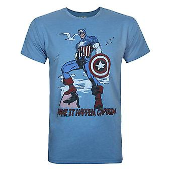 Junk Food Captain America Make It Happen Men's T-Shirt
