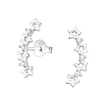 Tähdet - 925 sterlinghopea kuutio zirkonia korva nastat - W37913x